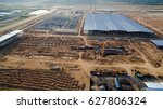 aerial view construction site... | Shutterstock . vector #627806324