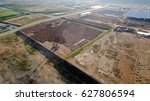 aerial view construction site... | Shutterstock . vector #627806594