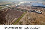 aerial view construction site... | Shutterstock . vector #627806624