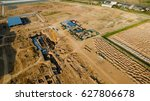 aerial view construction site... | Shutterstock . vector #627806678