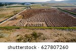 aerial view construction site... | Shutterstock . vector #627807260