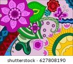 flower pattern.  | Shutterstock .eps vector #627808190