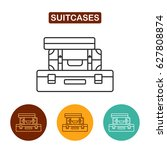 luggage icon. travel icon for... | Shutterstock .eps vector #627808874