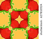 strawberry kaleidoscope.... | Shutterstock .eps vector #627810524