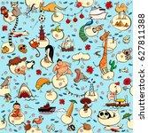 around the world seamless... | Shutterstock .eps vector #627811388