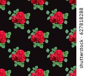 elegant seamless pattern with... | Shutterstock .eps vector #627818288