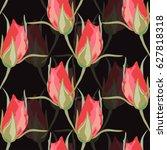 elegant seamless pattern with... | Shutterstock .eps vector #627818318