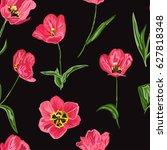 elegant seamless pattern with... | Shutterstock .eps vector #627818348