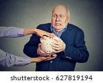 elderly upset scared business... | Shutterstock . vector #627819194