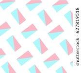 cyan pink abstract geometric... | Shutterstock .eps vector #627819518
