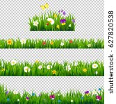 big set flowers borders... | Shutterstock .eps vector #627820538