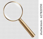 golden magnifying gradient mesh ... | Shutterstock .eps vector #627820550