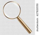 golden magnifying gradient mesh ... | Shutterstock .eps vector #627820550