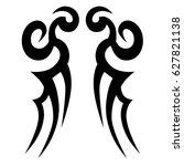tattoo tribal vector designs.... | Shutterstock .eps vector #627821138