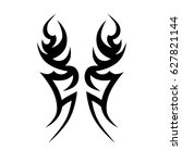 tribal tattoo art designs.... | Shutterstock .eps vector #627821144
