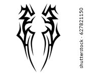 tattoo tribal vector design.... | Shutterstock .eps vector #627821150
