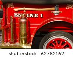 Old Vintage Fire Engine Detail...