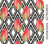 elegant seamless pattern with... | Shutterstock .eps vector #627823814