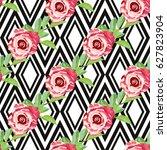 elegant seamless pattern with... | Shutterstock .eps vector #627823904