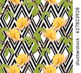 elegant seamless pattern with... | Shutterstock .eps vector #627823928