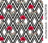 elegant seamless pattern with... | Shutterstock .eps vector #627823958