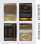 vintage vector brochure... | Shutterstock .eps vector #627824870