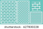 set of decorative panels laser... | Shutterstock .eps vector #627830228