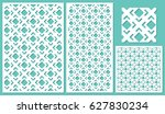 set of decorative panels laser... | Shutterstock .eps vector #627830234