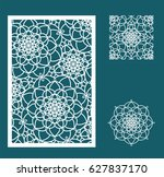 vector laser cut panel ... | Shutterstock .eps vector #627837170