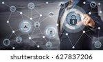 blue chip executive locking... | Shutterstock . vector #627837206