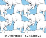 seamless pattern with hand... | Shutterstock .eps vector #627838523