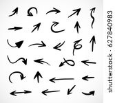 hand drawn arrows  vector set | Shutterstock .eps vector #627840983