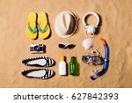 summer vacation composition.... | Shutterstock . vector #627842393