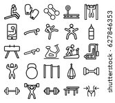 gym icons set. set of 25 gym...   Shutterstock .eps vector #627846353