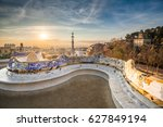 view of barcelone from the park ...   Shutterstock . vector #627849194