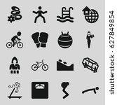 lifestyle icons set. set of 16