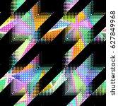 seamless geometric pattern.... | Shutterstock .eps vector #627849968