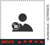 person lock icon flat. simple... | Shutterstock . vector #627850676