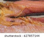 Small photo of Dry giant cat fish or Arius thalassinus.