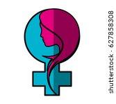 female gender symbol | Shutterstock .eps vector #627858308