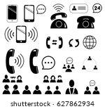 web site icons set. contact us. ... | Shutterstock .eps vector #627862934
