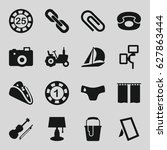 image icons set. set of 16... | Shutterstock .eps vector #627863444