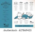 placemat design template vector ...   Shutterstock .eps vector #627869423