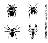 insects vector icons | Shutterstock .eps vector #627871928