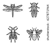 insects vector icons | Shutterstock .eps vector #627871964