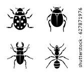 insects vector icons | Shutterstock .eps vector #627871976