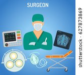 medical concept with surgeon ... | Shutterstock .eps vector #627873869