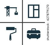 construction icons set.... | Shutterstock .eps vector #627879170