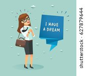 "happy businesswoman and ""i have ... 