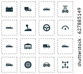 car icons set. collection of... | Shutterstock .eps vector #627885149